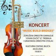 """Најава: Концерт """"Music Build Bridges"""" у нашем граду"""