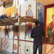 Фрескописање Цркве Христовог Вазнесења у Невесињу завршава се на Спасовдан